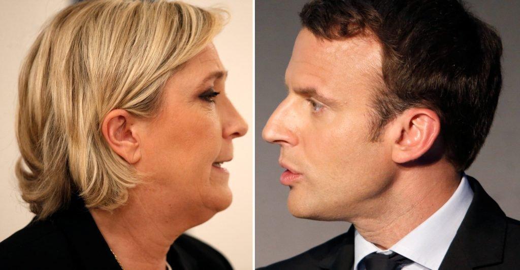 Marine Le Pen et Emmanuel Macron s'affronteront pour le deuxième tour de la présidentielle française le 7 mai prochain. Crédit : Reuters / Charles Platiau