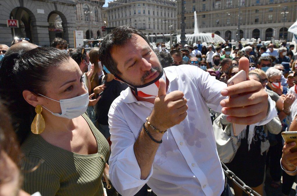 Italy's former Interior minister Matteo Salvini | Photo: ANSA/LUCA ZENNARO