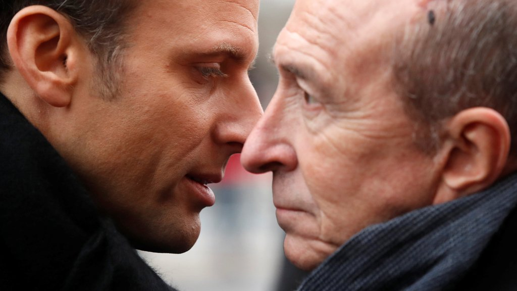 Emmanuel Macron et Gérard Collomb. Crédit : Reuters