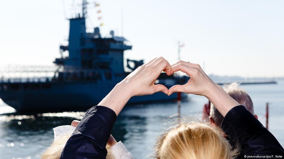 """کشتی آلمان در ماموریت دریایی""""سوفیا"""""""
