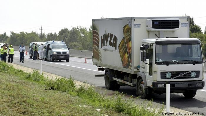 From file: Police find 71 dead migrants in a freezer truck in Austria (2015)