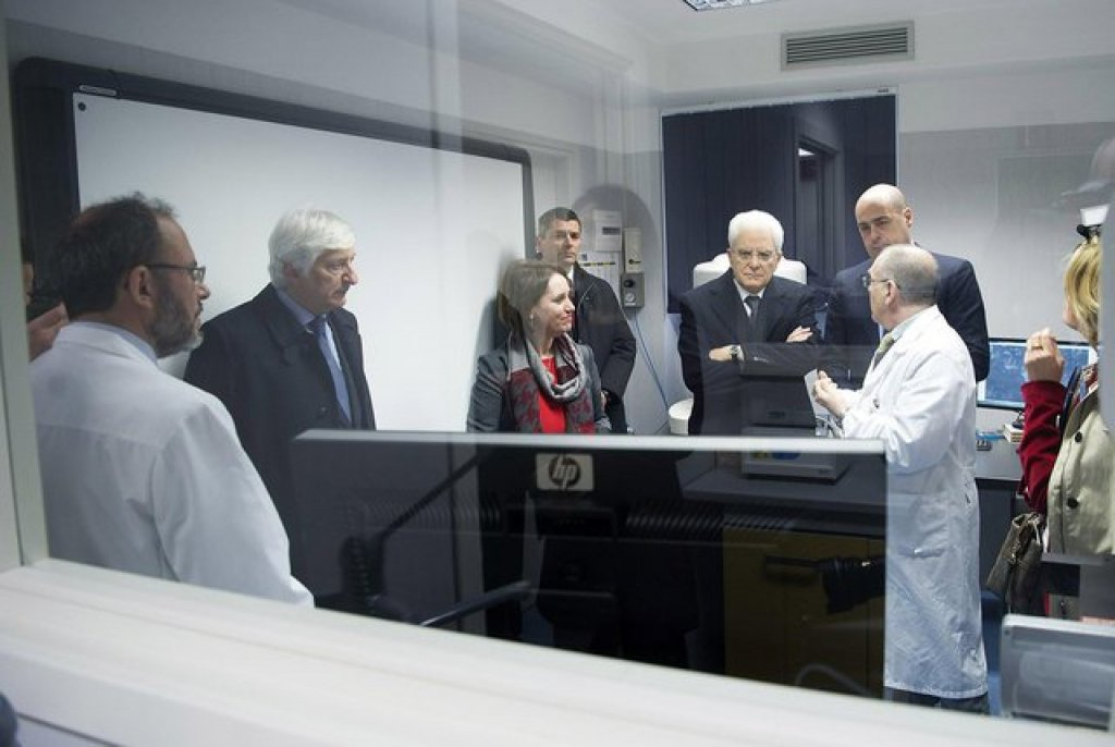 From file: Italian President Sergio Mattarella visits the INMP outpatient clinic in 2016 | Photo: ANSA/Paolo Giandotti - Presidential Press Office