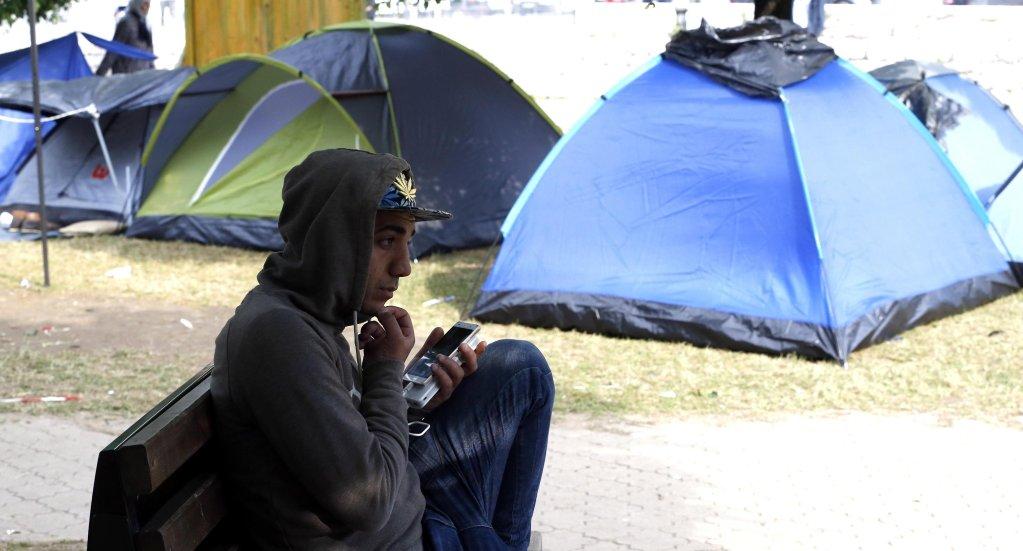 A makeshift migrant camp in Sarajevo, Bosnia. Credit: EPA/FEHIMDEMIR