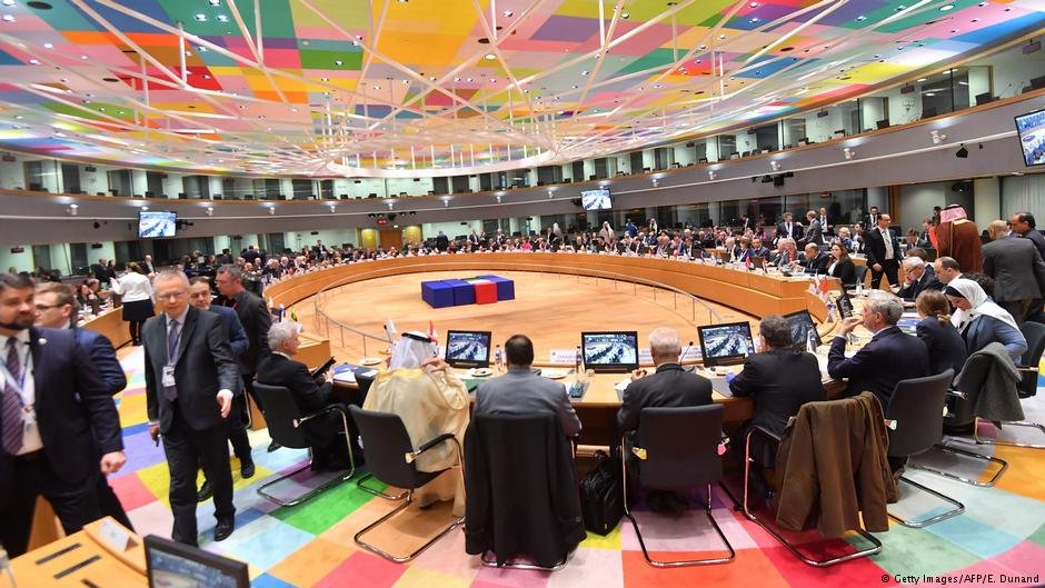 Officials attend the third Brussels conference on supporting future of Syria and the region at the European Council in Brussels on March 14, 2019 | Photo: Getty Images/AFP/E.Dunand