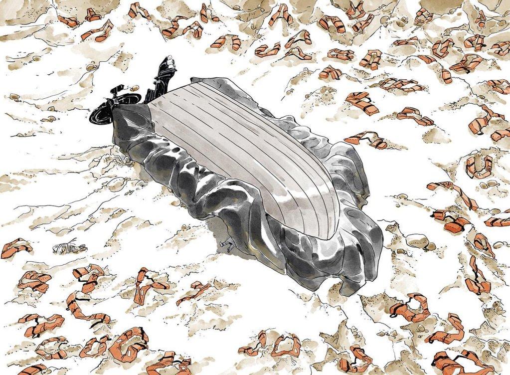 "ansa / تصوير من رواية ""ميديتريانو"". المصدر: سيرجيو نازارو ولوقا فيرارا."