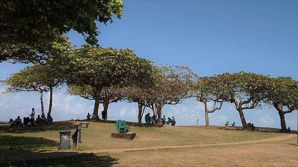 """ساحة """"Place des amediers"""" في العاصمة كايين في إقليم غويانا. الصورة: دانا البوز"""
