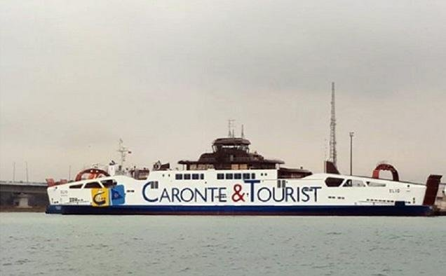 A ship of Caronte & Tourist in the port of Messina. Credit: ANSA/DOMENICO TROVATO