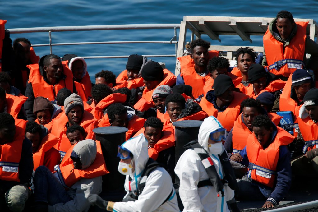 Migrants rescued by the Maltese authorities in March | Photo: Reuters
