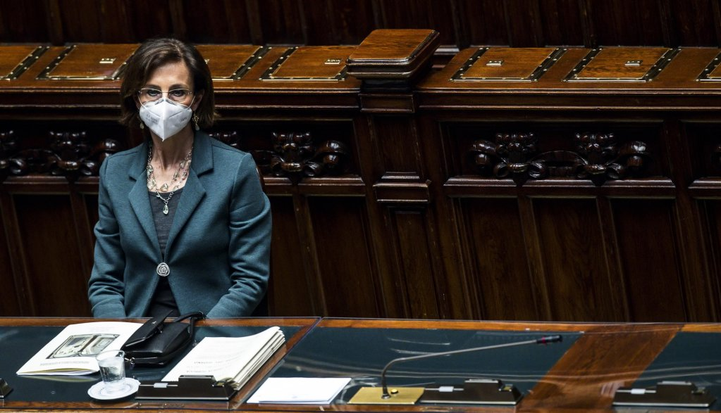 Italian Justice Minister, Marta Cartabia, during question time at the Lower House of Parliament |  Photo:ARCHIVE/ANSA/ANGELO CARCONI