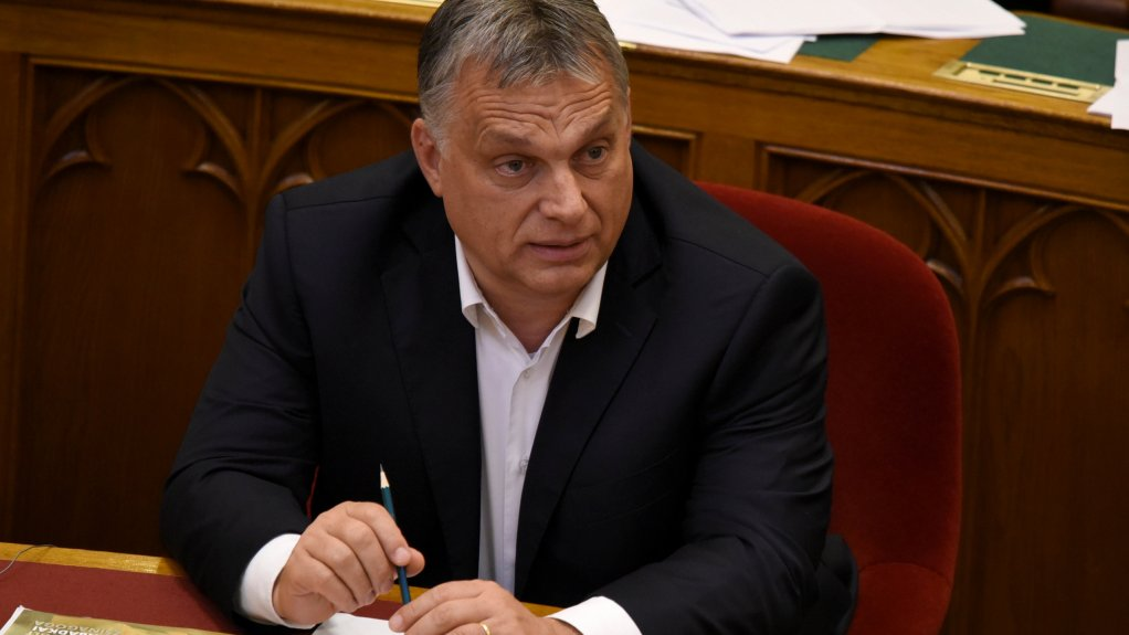 Le Premier ministre hongrois Viktor Orban, le 20 juin 2018, au Parlement de Budapest, lors du vote d'un ensemble de loi criminalisant l'aide aux migrants. Crédit : REUTERS/Tamas Kaszas