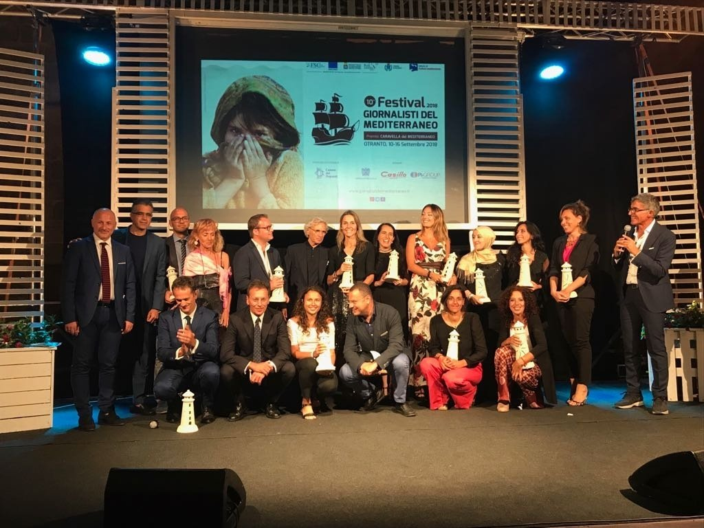The 2018 Mediterranean Caravel journalism prize ceremony | Credit: ANSA
