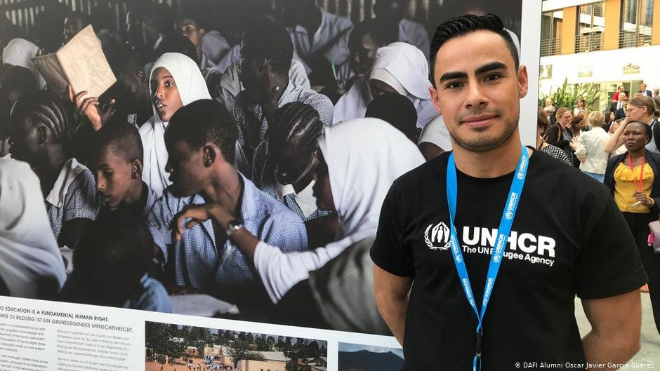 UN scholarship recipient Oscar Garcia Suarez wants to encourage other refugees to follow their dreams | Photo: DW/S. Serdar