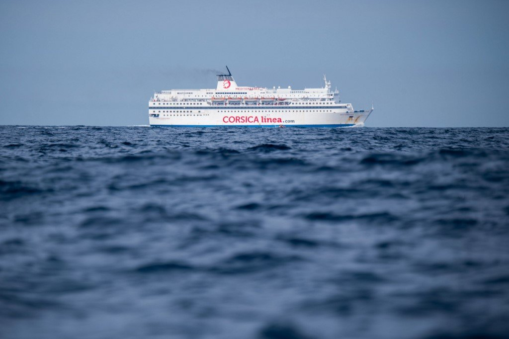 Christophe SIMON / AFP  Le navire «Mediterranee» de la compagnie de ferry Corsica Linea aborde le port de Marseille, dans le sud-est de la France, le 20 août 2019.