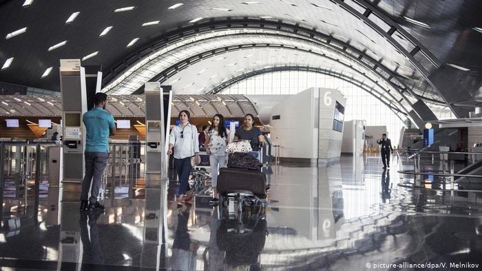 أصدرت قطر أول قانون للجوء في الخليج. الصورة من الأرشيف لمطار حمد الدولي في الدوحة