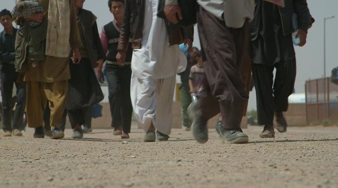 ۲۰۱۳، اپریل: افغان کډوال د اسلام قلعې په بندر کې. کرېډېټ: © 2013 Mikhail Galustov for Human Rights Watch