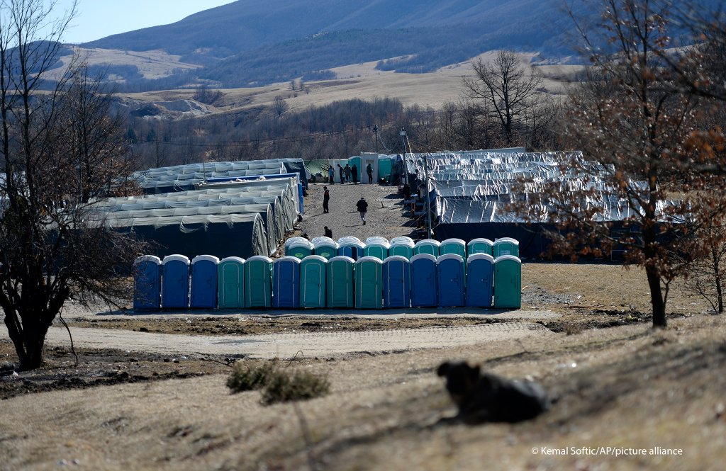 The Lipa migrant camp near Bihac, Bosnia seen on November 18, 2021 | Photo: Kemal Softic/AP Photo