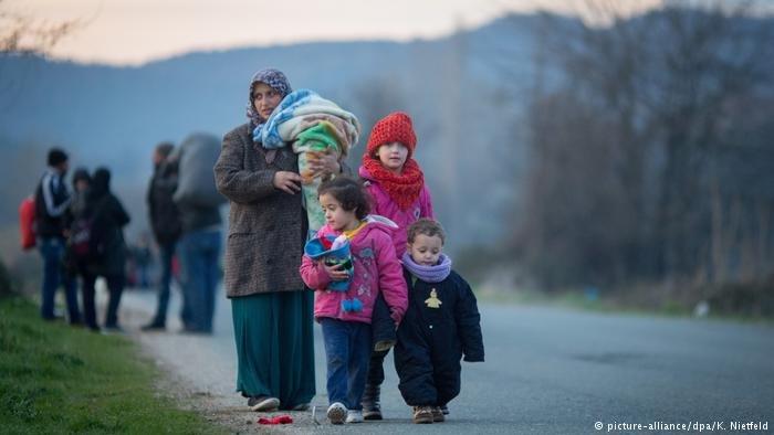 عکس آرشیف: پناهجویان در مرز مقدونیه شمالی
