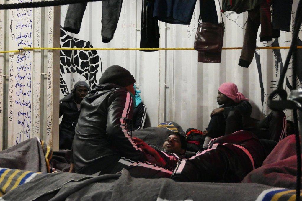 Près de 160 personnes ont été secourues vendredi 20 décembre par l'Ocean Viking. Crédit : SOS Méditerranée