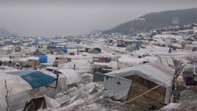 © (رويترز) |مخيم قرب إدلب بسوريا