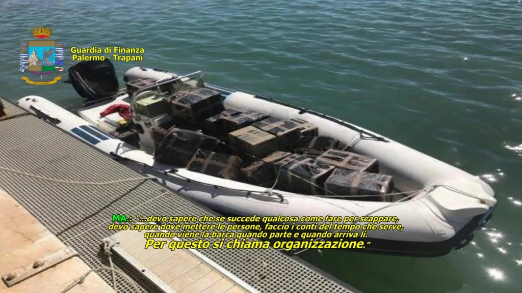 An Italian financial police video shows the fast dinghies used by the traffickers | Credit: ANSA/GUARDIA DI FINANZA