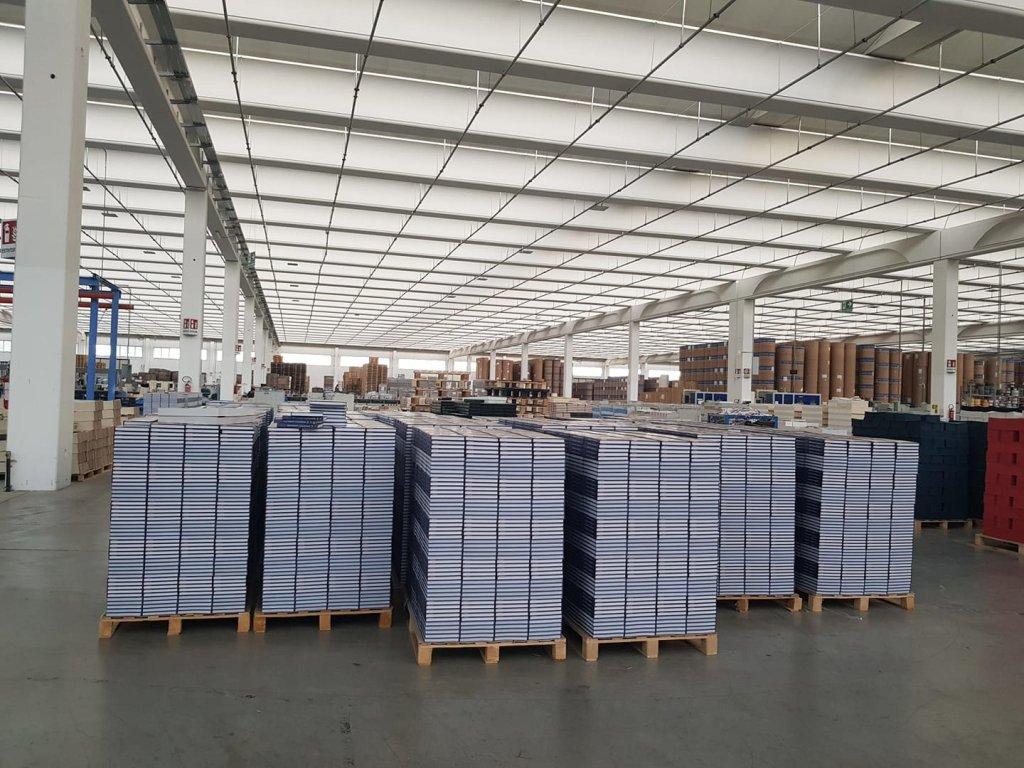 Inside the Grafica Veneta warehouse | Source: Grafica Veneta Facebook page via ANSA