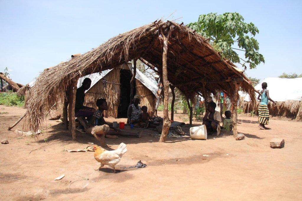 Déplacés internes, à Kaga Bandoro (Centrafrique), en novembre 2018. Crédit : Gaël Grilhot/RFI