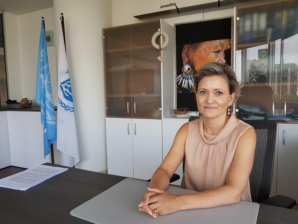 كاتيا ساحا، ممثلة مفوضية شؤون اللاجئين في قبرص، نيقوسيا 12 حزيران/يونيو 2019. شريف بيبي