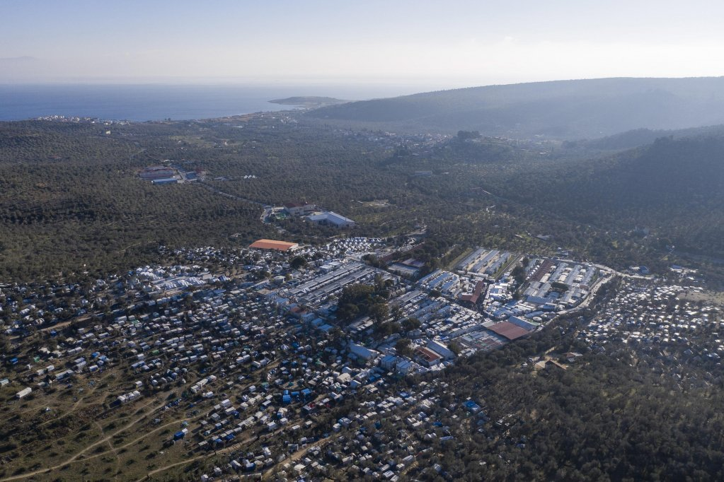 From file: Aerial view of the former Moria migrant camp on Lesbos | Photo : EPA/Dimitris Tosidis