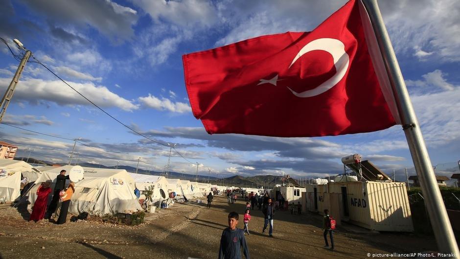 یک اردوگاه مهاجران در ترکیه