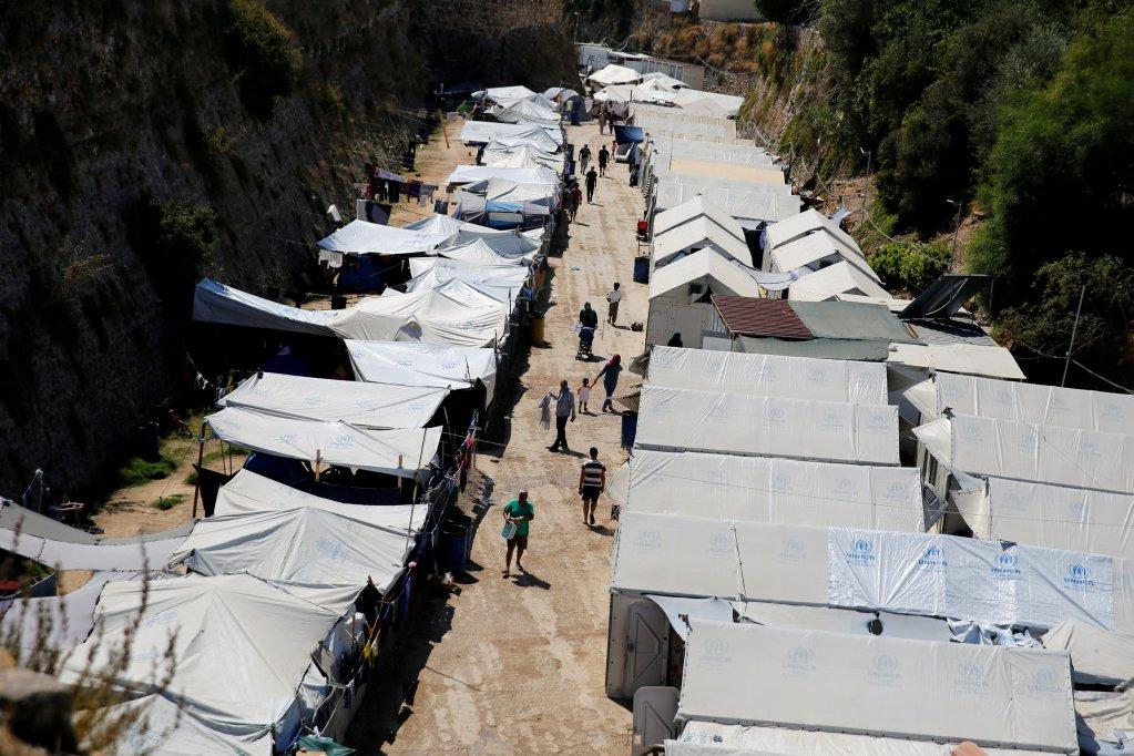 REUTERS/Alkis Konstantinidis |Le camp de réfugiés et de migrants de l'île de Chios en Grèce, le 7 septembre 2016.