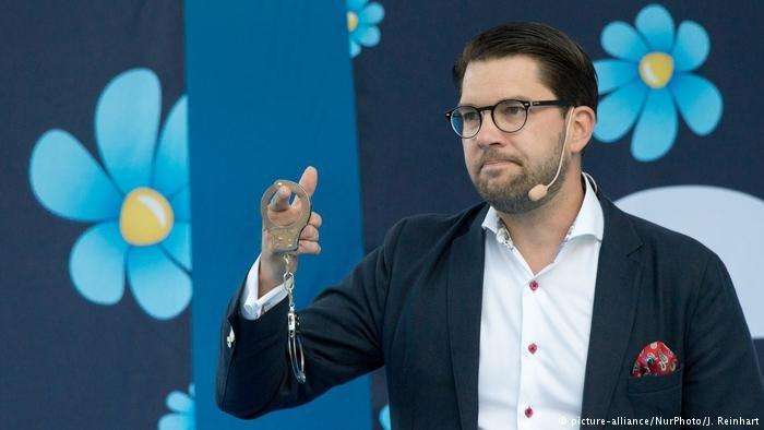 جيمي أكيسون، رئيس حزب ديمقراطيو السويد. رويترز
