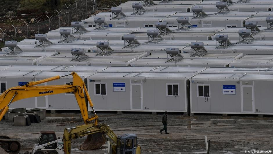 Camp construction site on Samos | Photo: Aris Messinis/AFP
