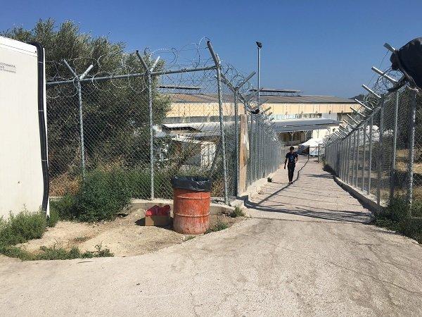 Image de l'intérieur du camp de Vial, sur l'île grecque de Chios. Crédit : InfoMigrants