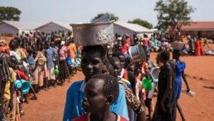Des réfugiés sud-soudanais, dans un camp d'Adjumani dans le nord de l'Ouganda, en juin 2016 (photo d'illustration). CHARLES LOMODONG / AFP