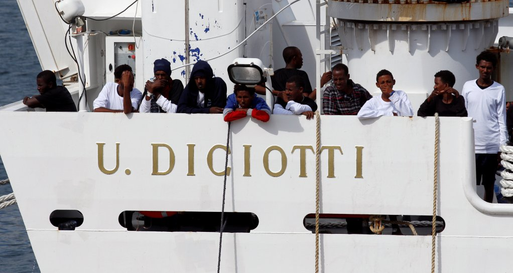 REUTERS/Antonio Parrinello | The Diciotti, the latest boat whose occupants have been forbidden to land in Italy