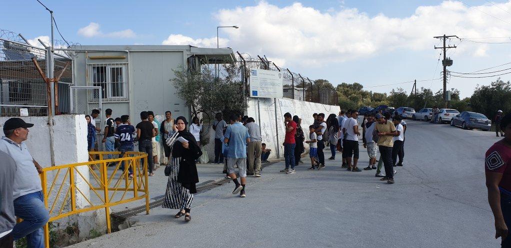 ارشیف. مهاجر د لېسبوس په موریا کمپ کې. کرېدېټ: امان الله جواد