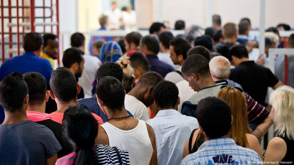 Des demandeurs d'asile en Allemagne (photo d'illustration). Crédit : Picture alliance