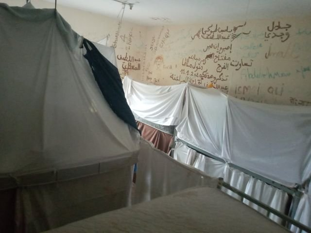 Image taken from inside Safi barracks on Malta, where migrans are detained | Photo: Private