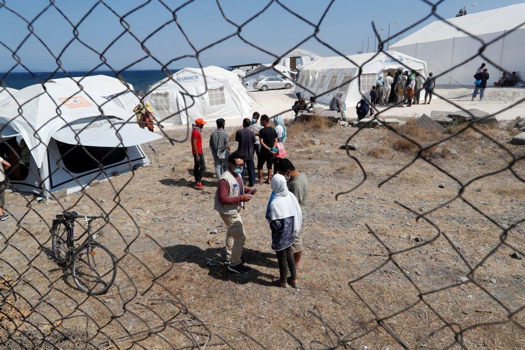 اردوگاه جدید مهاجران در لیسبوس. عکس: رویترز