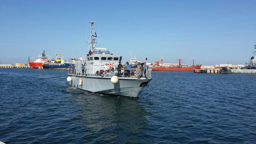 A Libyan navy patrol boat arrives in port in Tripoli | Photo: ANSA/Libyan Navy Press Office