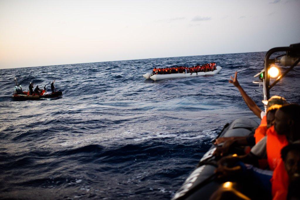 Le Sea Watch 4 a porté secours à plus de 200 migrants au large de la Libye en moins de 48 heures. Crédit : Sea-Watch
