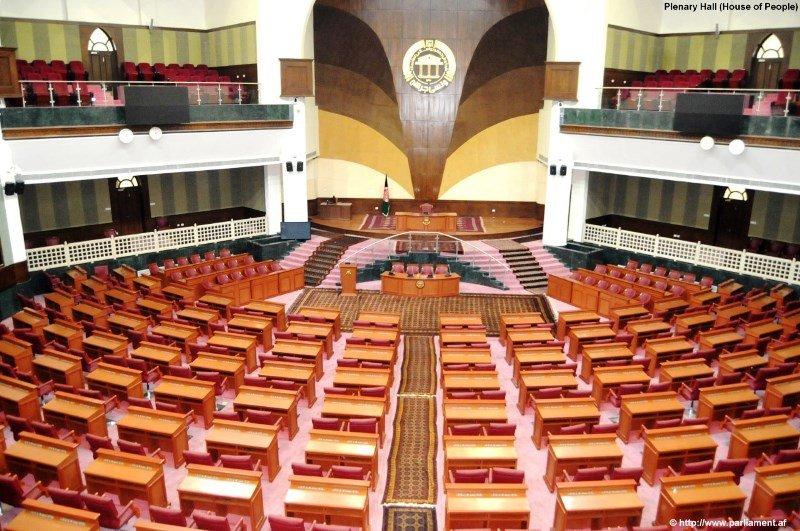 گروه طالبان که از ۱۵ اگست حاکمیت در افغانستان را در دست دارد پارلمان پیشین افغانستان را بسته است. عکس از سایت پارلمان افغانستان