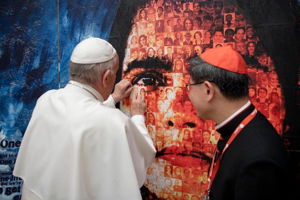 پاپ فرانسیس در بیست و یکمین مجمع عمومی بین المللی کاریتاس در واتیکان | عکس: EPA / VATICAN MEDIA HANDOUT