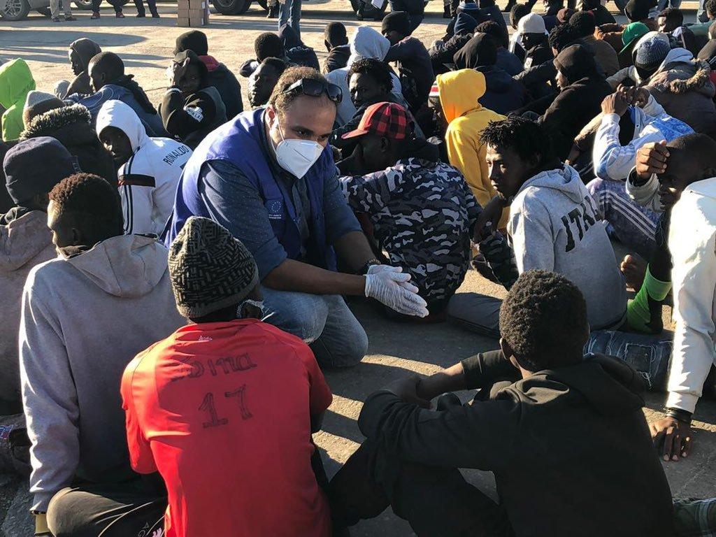 تمت إعادة نحو 10 آلاف مهاجر إلى ليبيا منذ مطلع 2020. الصورة: منظمة الهجرة الدولية