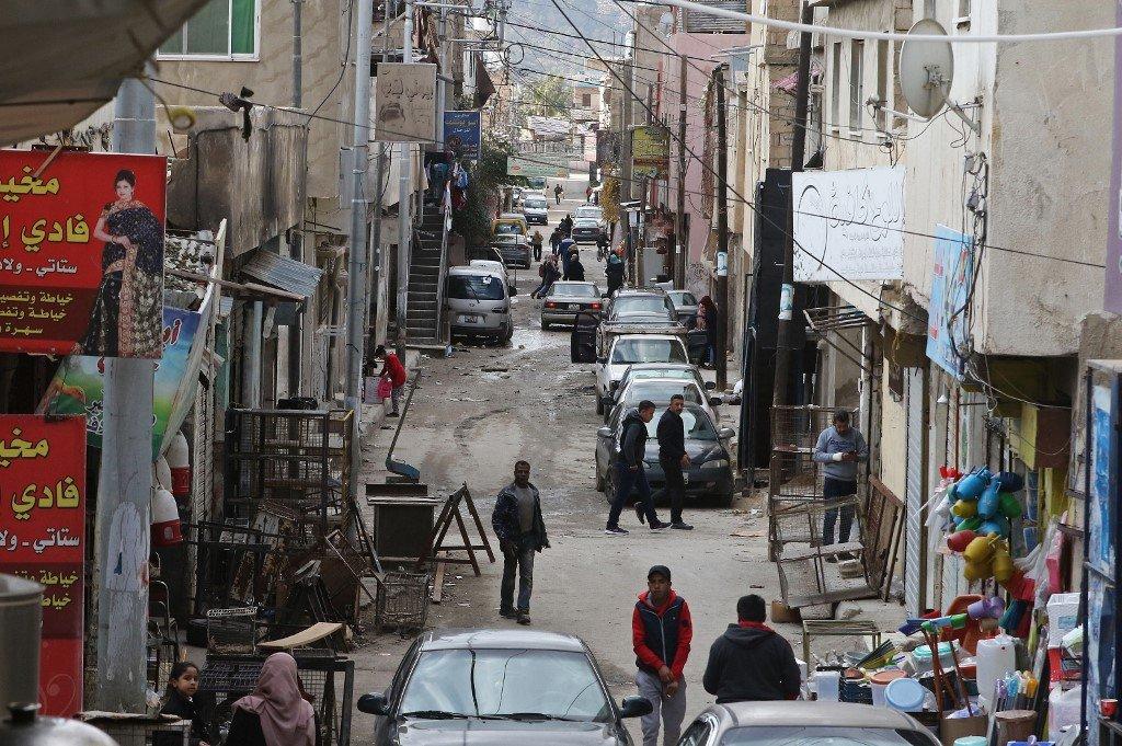 Khalil MAZRAAWI / AFP |Le camp de réfugiés palestiniens d'al-Baqa´a en Jordanie. (Photo d'illustration)