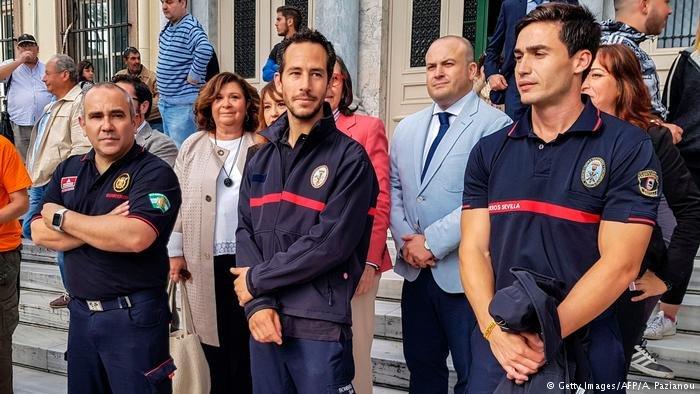 رجال إطفاء إسبان تمت تبرئتهم أمام محكمة يونانية/أ ف ب/بازيانو