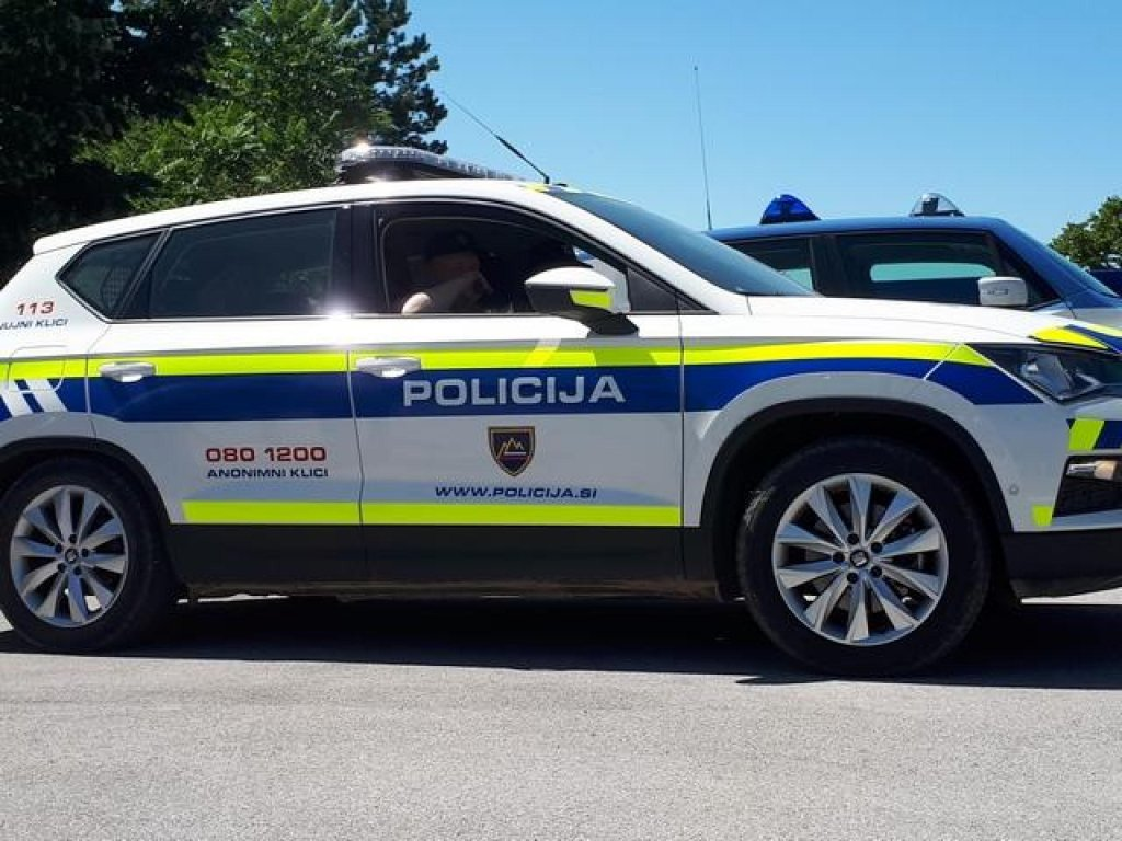 A Slovenian police car during joint patrols at the border with Italy | Photo: ANSA/Cristiana Missori