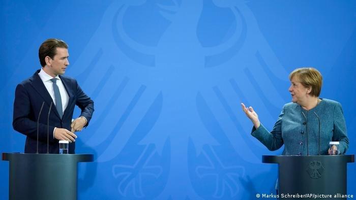 انگلا مرکل، صدراعظم آلمان و زباستیان کورتس، صدراعظم اتریش (آگست ۲۰۲۱)
