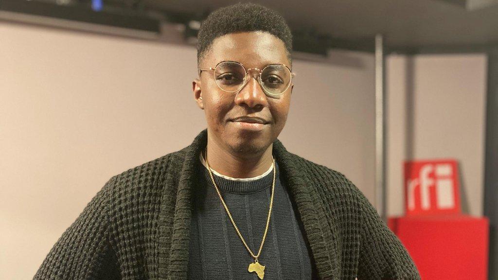 © RFI/Beverly Santu |Modibo Massaké, porte-parole du collectif des étudiants étrangers en France.