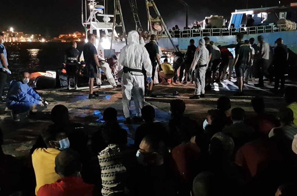 From file: Arrival of migrants in Lampedusa | Photo: ANSA/ELIO DESIDERIO